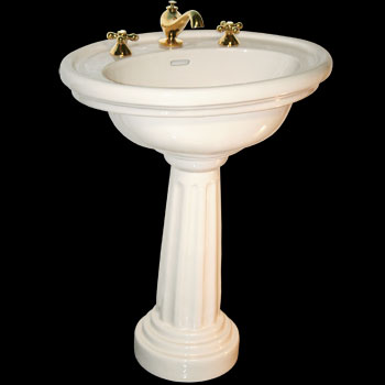 Pedestal Sinks - Philadelphia Sink Package Bone With 12 in. widespread by the Renovator's Supply