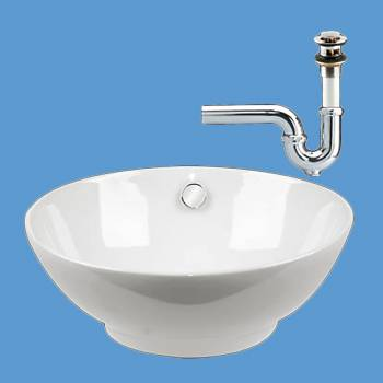 Watts White Vessel Sink PACKAGE DEAL - Vessel Sinks by Renovator's Supply.