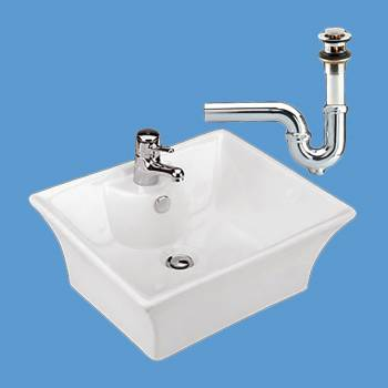 Newcastle White Vessel Sink PACKAGE DEAL - Vessel Sinks by Renovator's Supply.