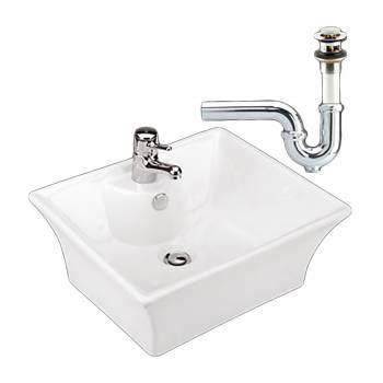 <PRE>Bathroom Vessel Sink White Newcastle Ceramic Drain/P-Trap </PRE>zoom1