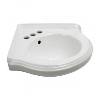 <PRE>Bathroom Corner Sink White China Wall Mount Drain/p-trap </PRE>zoom4