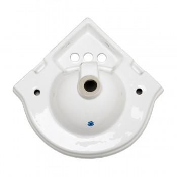 <PRE>Bathroom Corner Sink White China Wall Mount Drain/p-trap </PRE>zoom5
