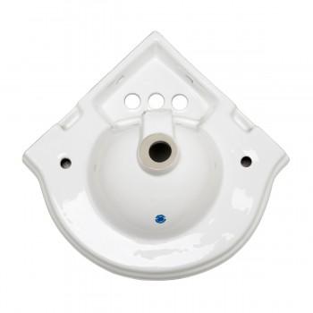 <PRE>Bathroom Corner Sink White China Wall Mount Drain/p-trap </PRE>zoom11