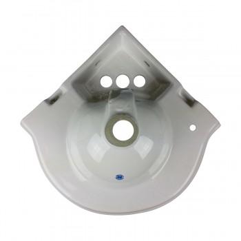 <PRE>Bathroom Corner Sink White China Wall Mount Drain/p-trap </PRE>zoom13