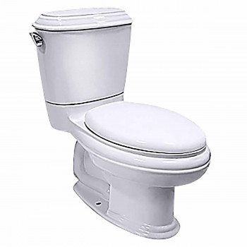 White China Elongated Toilet with Seat 17650grid