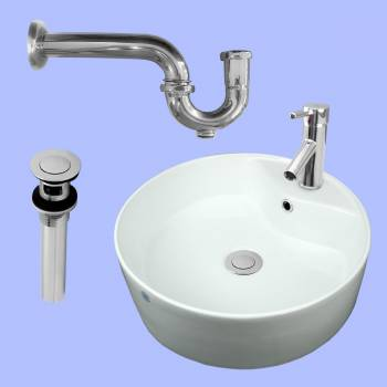 <PRE>Bathroom Vessel Sink Faucet P-trap Drain Incl | Reno Handle </PRE>zoom2