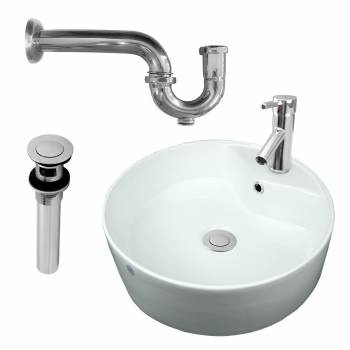 <PRE>Bathroom Vessel Sink Faucet P-trap Drain Incl | Reno Handle </PRE>zoom1
