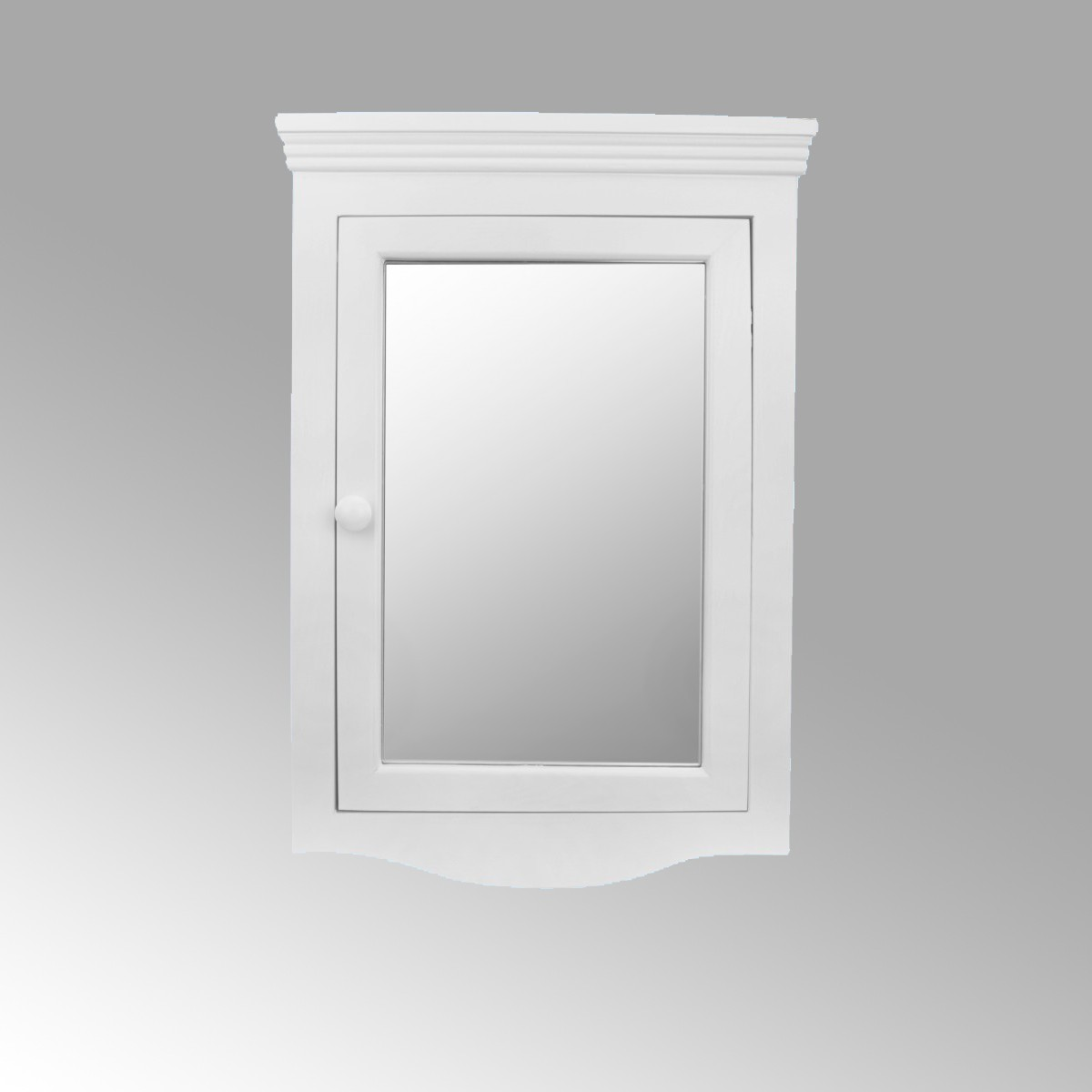 White Bathroom Wall Mount Medicine Cabinet Mirrored Door Fully Pre ...