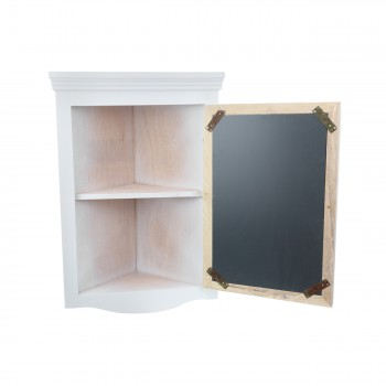 <PRE>Mirrored Corner Medicine Cabinet Wall Mounted White Fully Pre-Assembled</PRE>zoom3