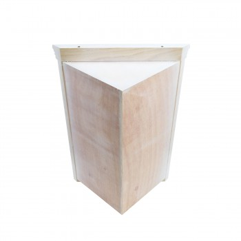 <PRE>Mirrored Corner Medicine Cabinet Wall Mounted White Fully Pre-Assembled</PRE>zoom6