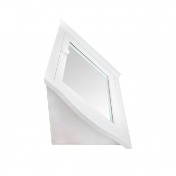 <PRE>Mirrored Corner Medicine Cabinet Wall Mounted White Fully Pre-Assembled</PRE>zoom7