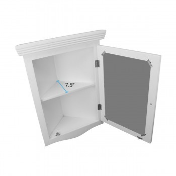 spec-<PRE>White Bathroom Wall Mount Medicine Cabinet Mirrored Door Fully Pre-Assembled</PRE>