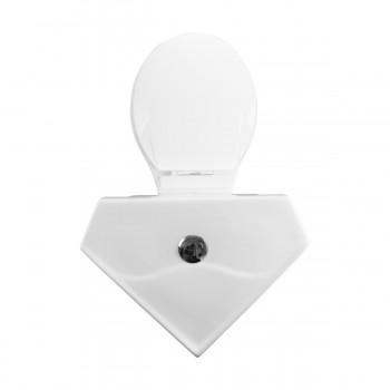 <PRE>Renovator's Supply Dual Flush Corner Toilet Round White Porcelain Chrome Button</PRE>zoom7