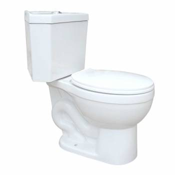 Renovators Supply Dual Flush Corner Toilet Round White Porcelain Chrome Button
