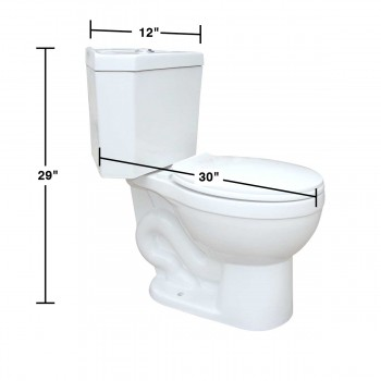 spec-<PRE>Renovator's Supply Dual Flush Corner Toilet Round White Porcelain Chrome Button</PRE>