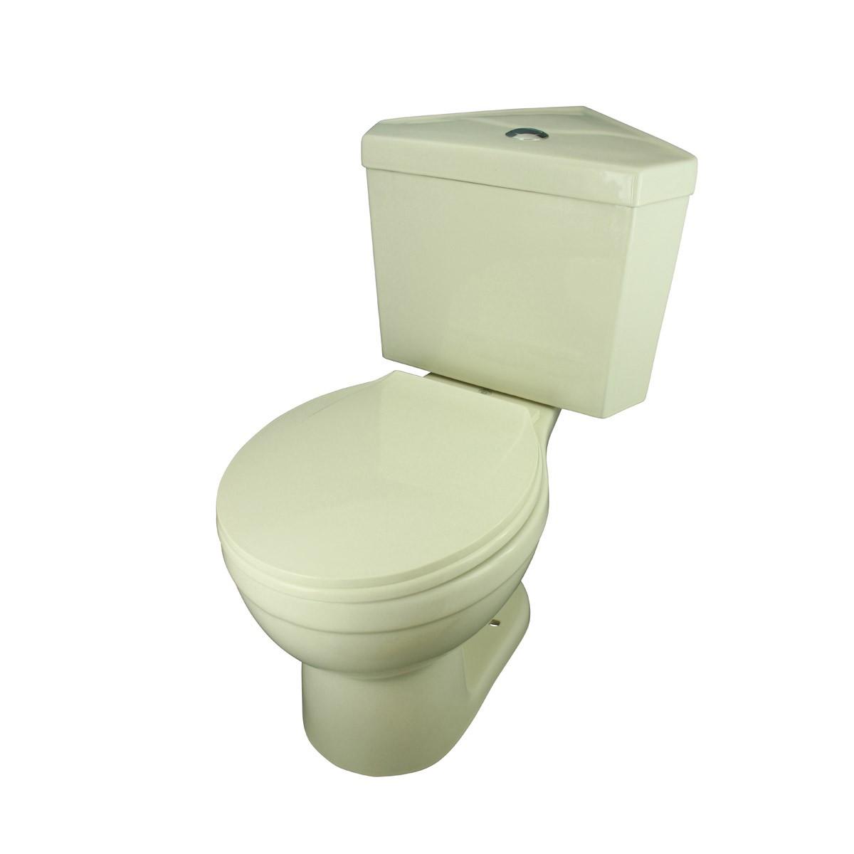 Biscuit Round Bowl Corner Bathroom Toilet Push Button Dual Flush Water Saver Modern Round Toilet Corner Ceramic Toilet Dual Flush Toilet