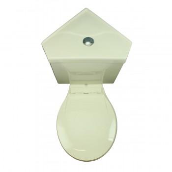 <PRE>Biscuit Round Bowl Corner Bathroom Toilet Push Button Dual Flush Water Saver</PRE>zoom11