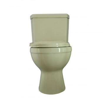 Toilets - Water Saver Corner Toilet Top Dual Flush Round Bone Bowl by the Renovator's Supply