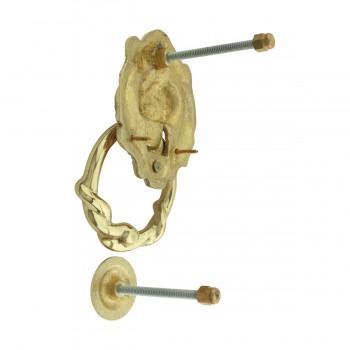 Door Knocker Lion Cast Brass 6 14 H x 3 58 W Lion Door Knocker Brass Door Knockers Door Knockers For Front Door