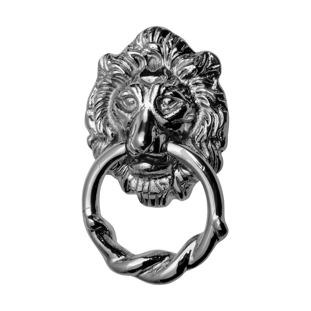 Large Chrome Cast Brass Lion Head Door Knocker 6 14 Inch X 3 58 Inch Lion Door Knocker Chrome Door Knockers Door Knockers For Front Door