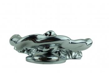 <PRE>Large Chrome Cast Brass Lion Head Door Knocker 6 1/4 Inch X 3 5/8 Inch</PRE>zoom6