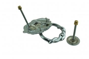 <PRE>Large Chrome Cast Brass Lion Head Door Knocker 6 1/4 Inch X 3 5/8 Inch</PRE>zoom9