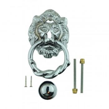 <PRE>Large Chrome Cast Brass Lion Head Door Knocker 6 1/4 Inch X 3 5/8 Inch</PRE>zoom10