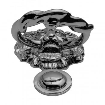 <PRE>Large Chrome Cast Brass Lion Head Door Knocker 6 1/4 Inch X 3 5/8 Inch</PRE>zoom13