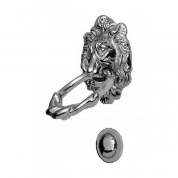 <PRE>Large Chrome Cast Brass Lion Head Door Knocker 6 1/4 Inch X 3 5/8 Inch</PRE>zoom14