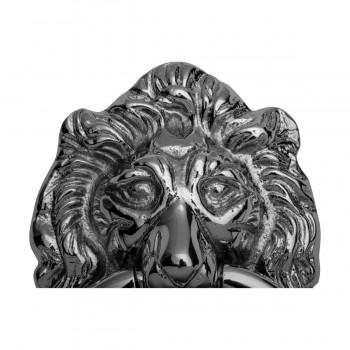 <PRE>Large Chrome Cast Brass Lion Head Door Knocker 6 1/4 Inch X 3 5/8 Inch</PRE>zoom15