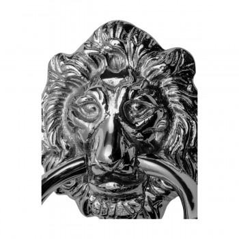<PRE>Large Chrome Cast Brass Lion Head Door Knocker 6 1/4 Inch X 3 5/8 Inch</PRE>zoom17