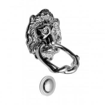 <PRE>Large Chrome Cast Brass Lion Head Door Knocker 6 1/4 Inch X 3 5/8 Inch</PRE>zoom18