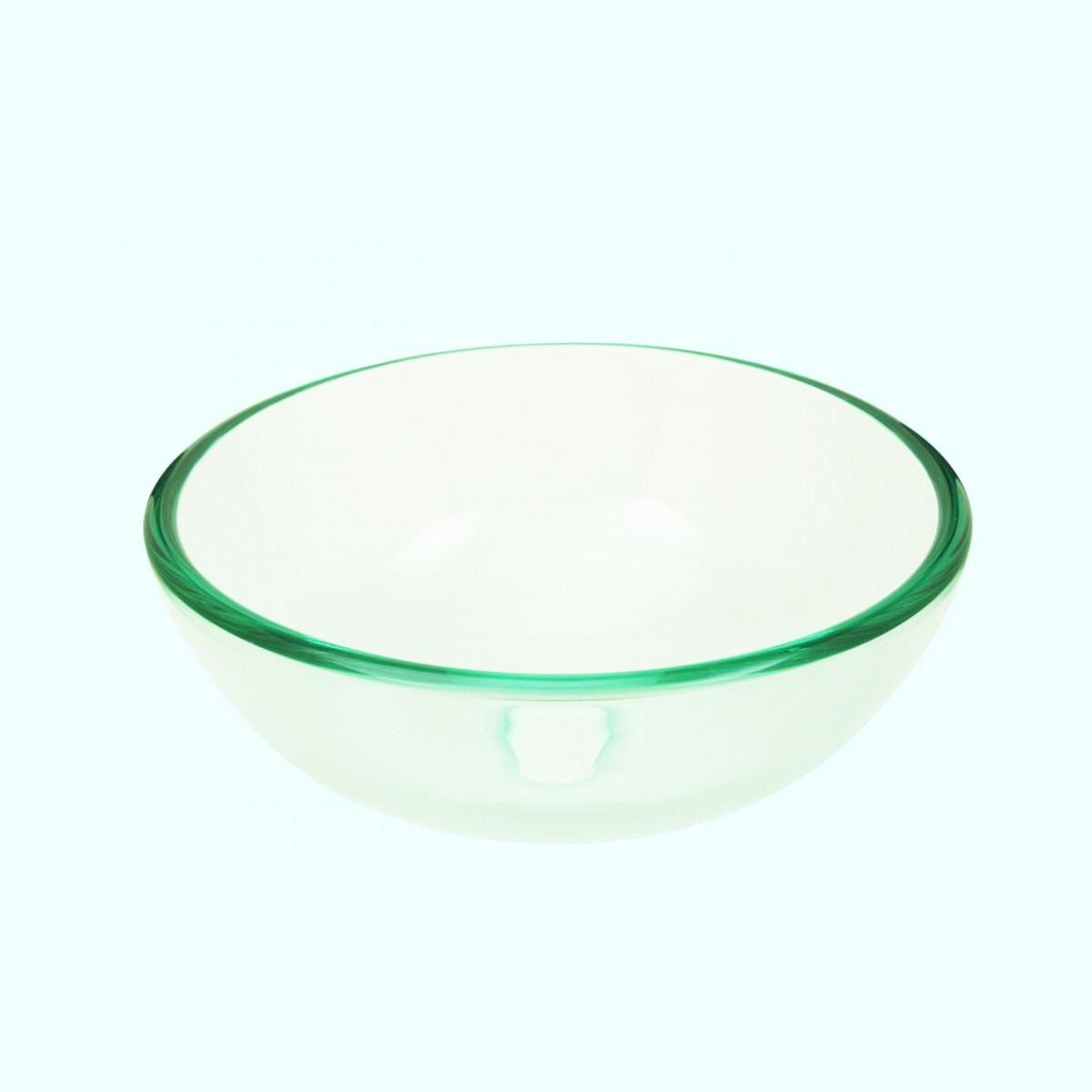 Bathroom tempered glass vessel sink clear mini bowl round - Bathroom tempered glass vessel sink ...