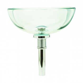 <PRE>Bathroom Tempered Glass Vessel Sink Clear Mini Bowl Round with Popup Drain</PRE>zoom4