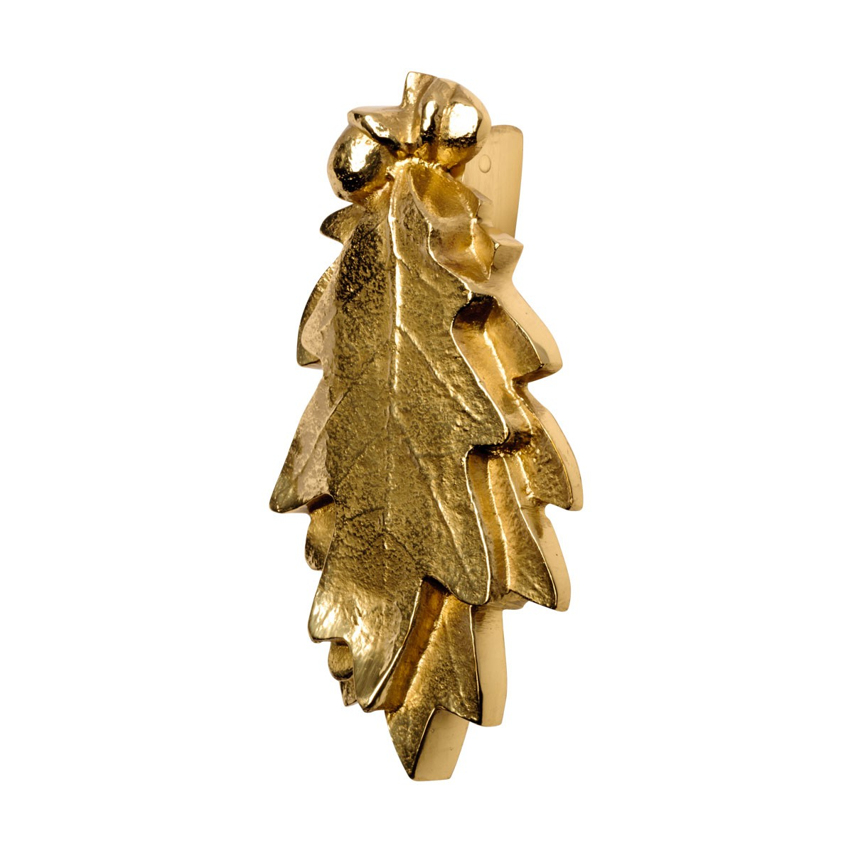Solid Brass Door Knocker Oak Leaf 6H x 3W Door Knocker Oak Leaf Brass Door Knockers Door Knockers For Front Door