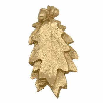 Brass Door Knocker Oak Leaf Brass P/L