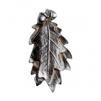 Chrome Door Knocker Oak Leaf
