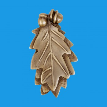 "<PRE>Door Knocker Antique Brass Oak Leaf 6inchH x 3""W </PRE>zoom2"