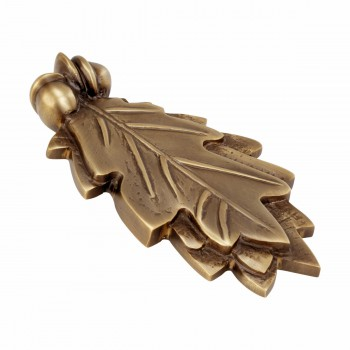 "<PRE>Door Knocker Antique Brass Oak Leaf 6inchH x 3""W </PRE>zoom3"
