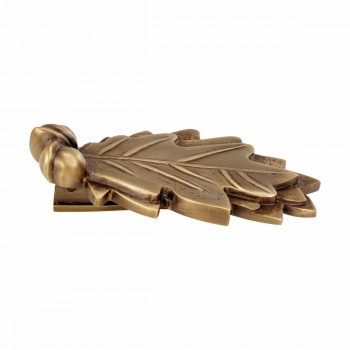 "<PRE>Door Knocker Antique Brass Oak Leaf 6inchH x 3""W </PRE>zoom4"