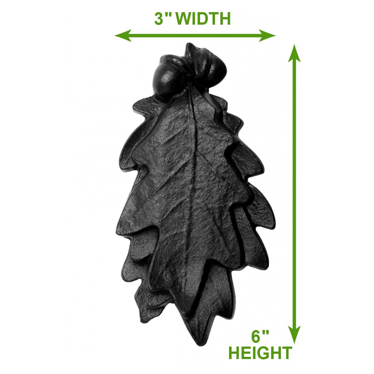 <PRE>Door Knocker Black Cast Iron Oak Leaf 6 Inch X 3 Inch</PRE>