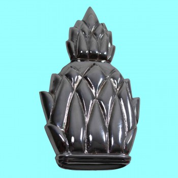 <PRE>Door Knocker Chrome on Brass Pineapple 6inchH </PRE>zoom2