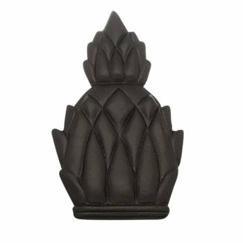 Door Knocker Black Cast Iron Pineapple 6H
