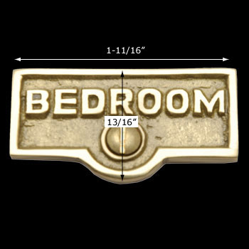 spec-<PRE>Switch Plate Tags BEDROOM Name Signs Labels Lacquered Brass </PRE>