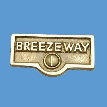 <PRE>Switch Plate Tags BREEZEWAY Name Signs Labels Solid Brass </PRE>zoom2