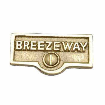 Switch Plate Tags BREEZEWAY Name Signs Labels Solid Brass 17706grid