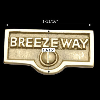 spec-<PRE>Switch Plate Tags BREEZEWAY Name Signs Labels Solid Brass </PRE>