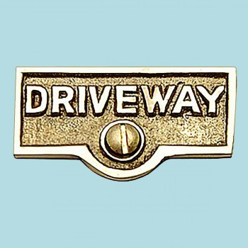 <PRE>Switch Plate Tags DRIVEWAY Name Signs Labels Brass </PRE>
