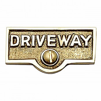 Switch Plate Tags DRIVEWAY Name Signs Labels Brass 17711grid