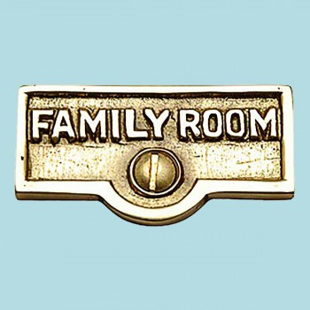 <PRE>Switch Plate Tags FAMILY ROOM Name Signs Labels Brass </PRE>